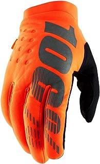 100% 2019 Brisker Colder Weather Gloves (X-Large) (FLO Orange/Black)