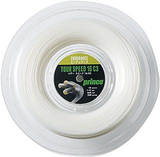 Prince(プリンス) テニス ストリングス ツアースピード 16ゲージ 200mリール ホワイト 7JJ008