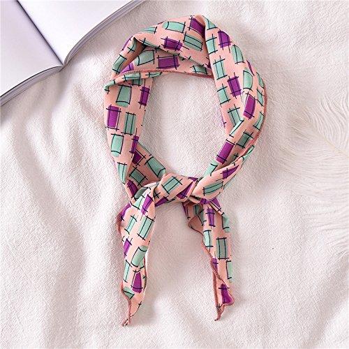 Sabigzi Multifunctionele kleine sjaals van zijde voor afzuigkap, driehoek, herfstdecoratie, handdoek, kleine sjaal driehoek/poeder/vierkant