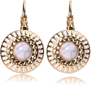 Glitz Classic Latest Stylish Ladies Party Wear Fashion Multi Colour Round Stud Earrings for Women and Girls