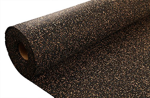 IncStores AcoustiCORK Underlayment - Ideal Subfloor for Hardwood, Ceramic, LVT, Laminte, Bamboo & Cork Flooring (10mm x 4ft x 15ft)