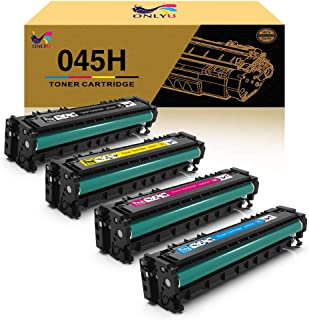 ONLYU Compatible Toner Cartridge Replacement for Canon 045 045H CRG-045H Cartridge 045 for Canon Color imageCLASS MF634Cdw Color imageCLASS LBP612Cdw Color imageCLASS MF632Cdw Laser Printer - 4 Pack