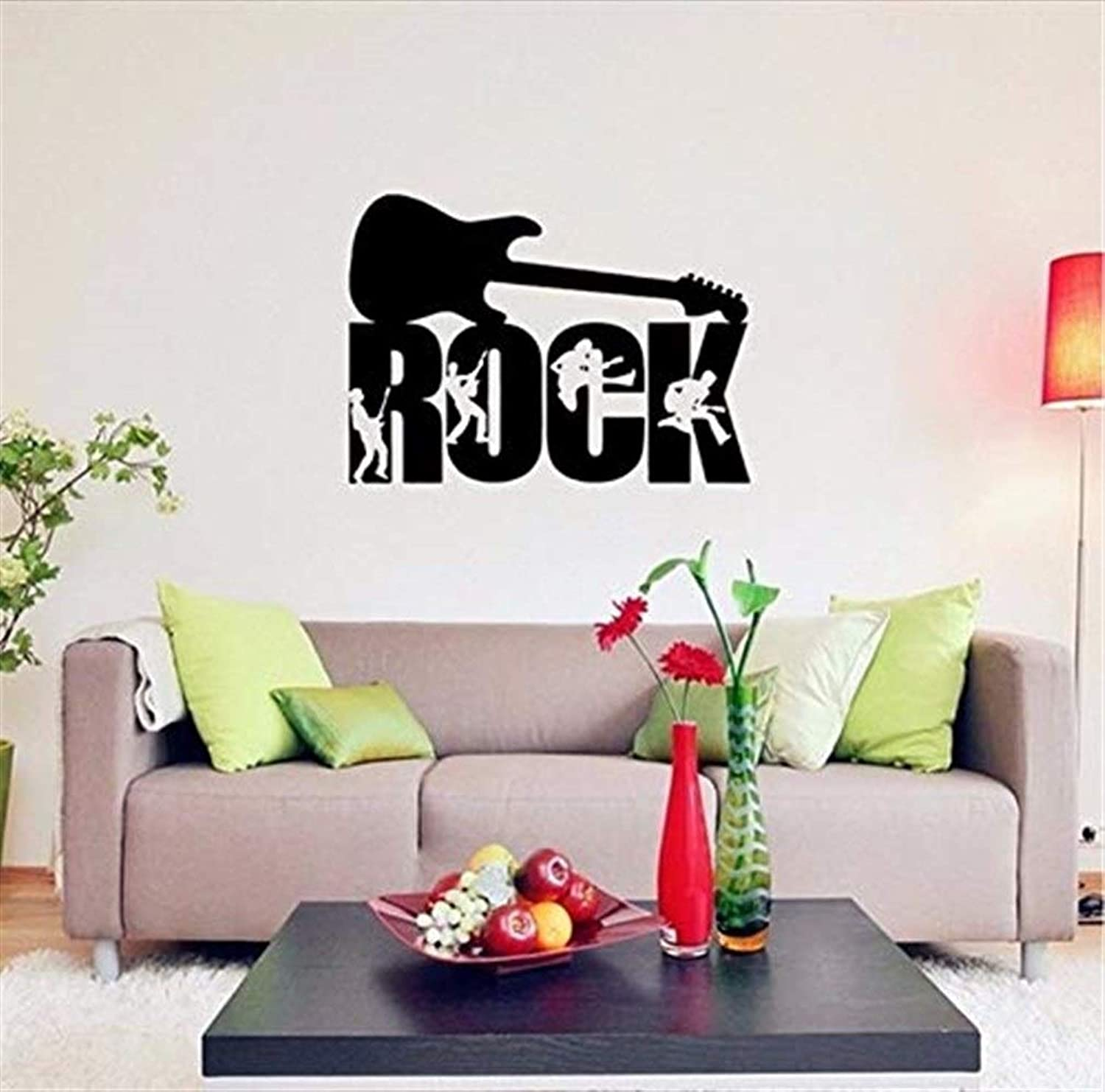 Wallpapers Creative Rock Music Art Vinyl Decals Wall Stickers Home Decor Living Room Bed Room Removable DIY Wallpaper