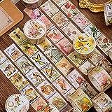 1200 Hojas Sello Pegatinas Scrapbooking, 33x25mm, Sticker Bullet Journal Vintaje para Manualidades Scrapbook DIY Decoración Diario Recortes Calendarios Tarjetas de Felicitación Regalos