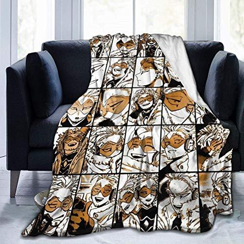 wteqofy My Hero Academia Collage Anime Hawks - Manga Fleece Throw Blanket, Fuzzy Warm Throws for Winter Bedding, Couch and Plush House Warming Decor Gift Idea 60'x50'