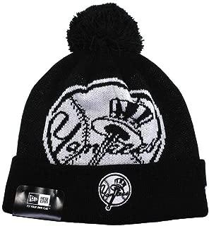 New Era Beanie Mlb New York Yankees Unisex Knit Black White Hat One Size