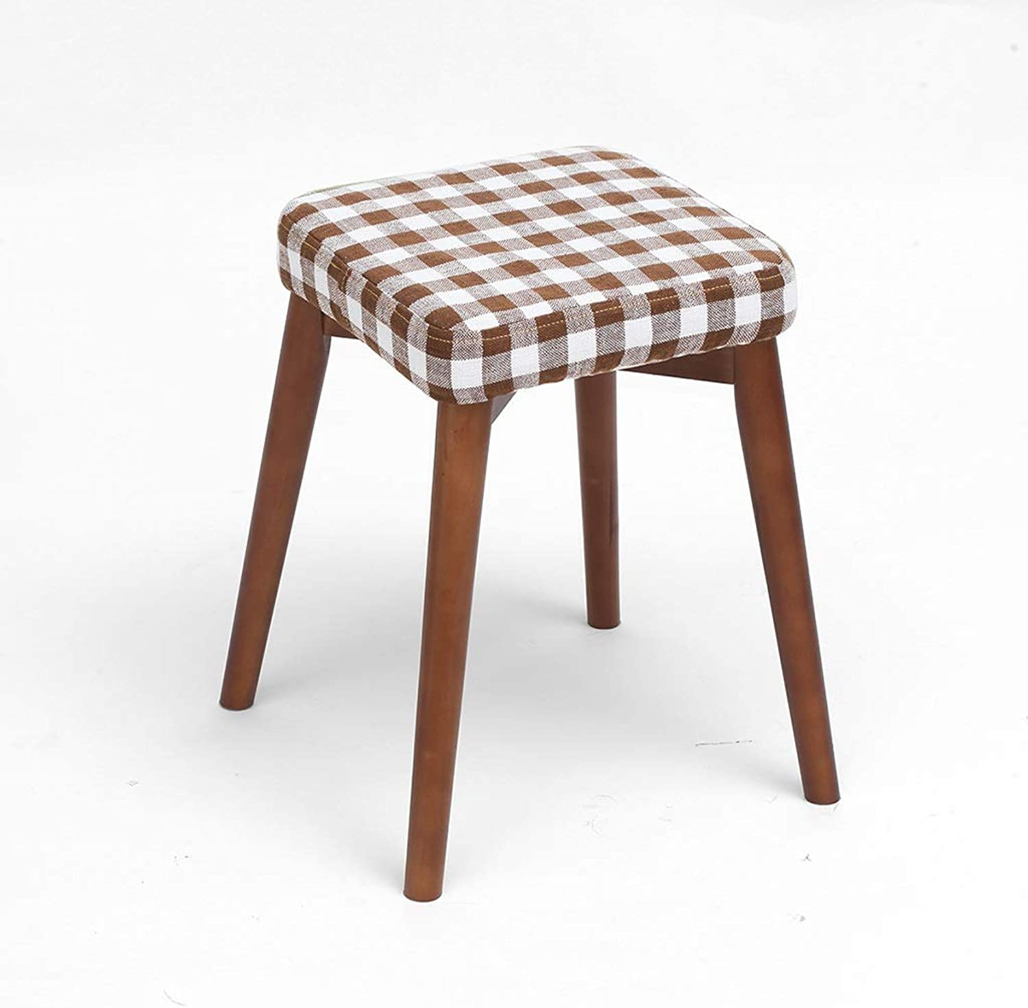 Small Bench Removable Chair Cover Multifunctional Chair High Stool Dressing Stool Living Room Dining Room Bench (color   A, Size   Brown)