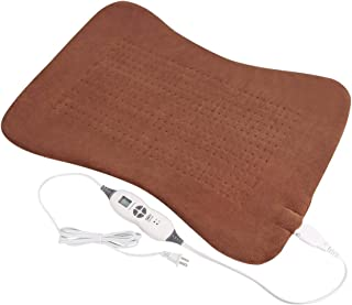 Tech Love XLarge Back Heating Pad for Full Body Pain Relief with Auto Shut-Off, Fast-Heating, 6 Heat Settings, Electric Moist Heated Pads with Straps, Extra Large 20'' x 28'' - Coffe