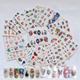 NAIL ANGEL 19 Sheets Nail Art Water Decals Water Transfer Sticker Animal Series Wolf Peacock Horse Owl Cat Different Patterns Decals for fingernail and toenail Manicure (19sheets) 10062