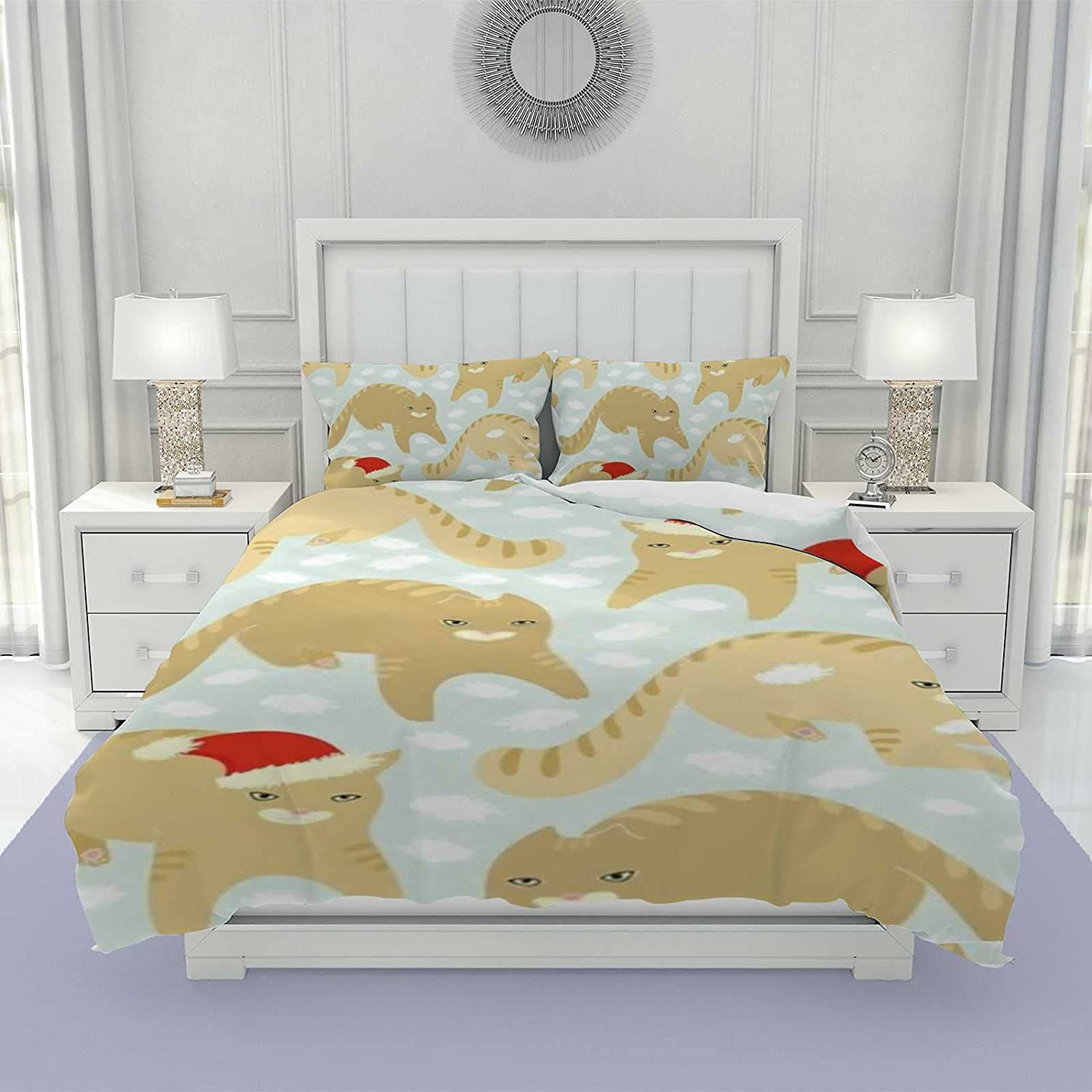 Georva Max 85% OFF 3 Pieces Duvet Cover Set Max 71% OFF for Soft Microfiber Polyest Kids
