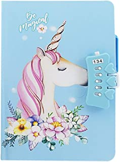 Cute Unicorn Notebook with Combination Lock Pen Holder Writing Journal Planner Organizer Diary 7.5¡¯¡¯ x 5.3¡¯¡¯ ,70 sheets