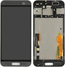 Cell Phone Spare Parts LCD Screen + Touch Screen with Frame Compatible with HTC One M9+ / M9 Plus (Color : Black)