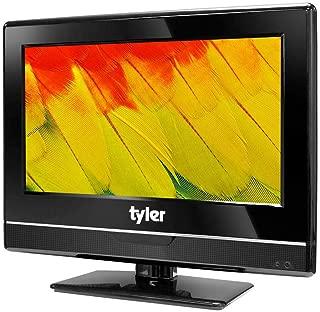 Tyler 13.3-Inch Digital LED HDTV Widescreen Television - Full Ultra HD 1080p Monitor Flat Screen TV w/ Stand - HDMI, USB, RCA, VGA, USB, Coax Input – Wall Mountable – Mac PC – Stereo Speakers - AC/DC