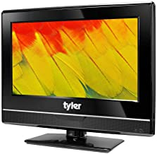 Tyler 13.3-Inch Digital LED HDTV Widescreen Television - Full Ultra HD 1080p Monitor Flat Screen TV w/ Stand - HDMI, USB, RCA, VGA, USB, Coax Input – Wall Mountable – Mac PC – Stereo Speakers - AC/DC