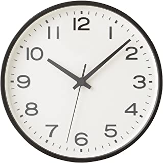 MUJI Analog Clock Large Watch Black Wall mounted Continuous second hand MoMA watch