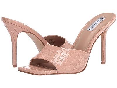 Steve Madden Signal Heeled Sandal (Tan Croco) Women
