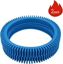 The PoolCleaner 4 Wheel Back Tires Kit No Hump Replacement Pool Part 896584000-082 (Set of 2, Blue) Made by Primeswift