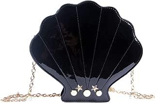 Women Novelty Laser Shell Shape Cross-body Shoulder Bags Pearl Chain Evening Purse