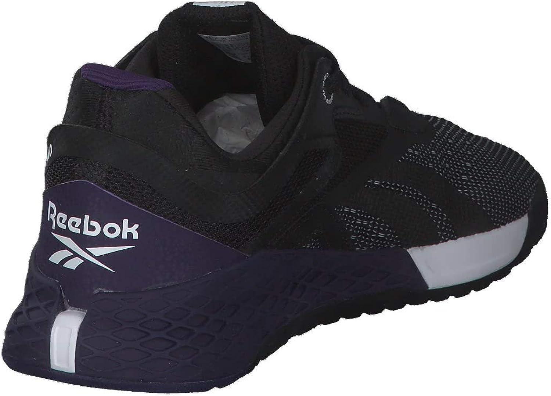 Reebok Nano X, Chaussure de Course Homme Noir Blanc Orchidãe