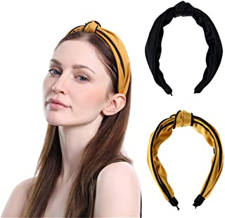 Hair Hoop for Women Fashion Headbands Cross Knotted Headband Bow Hair Accessories JOY'DAY 2Pcs…