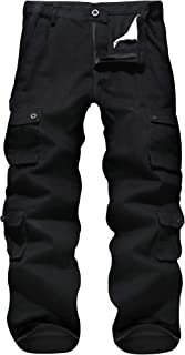 APTRO Men's Cargo Pants Relaxed Fit Multi-Pockets Work Pants Outdoor Casual Pants with Partial Elastic Waist