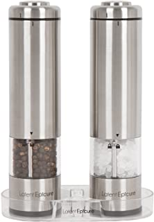 Latent Epicure Battery Operated Salt and Pepper Grinder Set (Pack of 2 Mills) –..