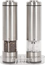 Latent Epicure Battery Operated Salt and Pepper Grinder Set (Pack of 2 Mills) - Complimentary Mill Rest | Bright Light | A...