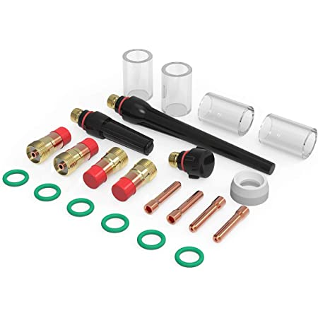14 Pcs TIG Welding Torch Kits For WP17//18//26 With Stubby Gas Lens Glass Cup USA