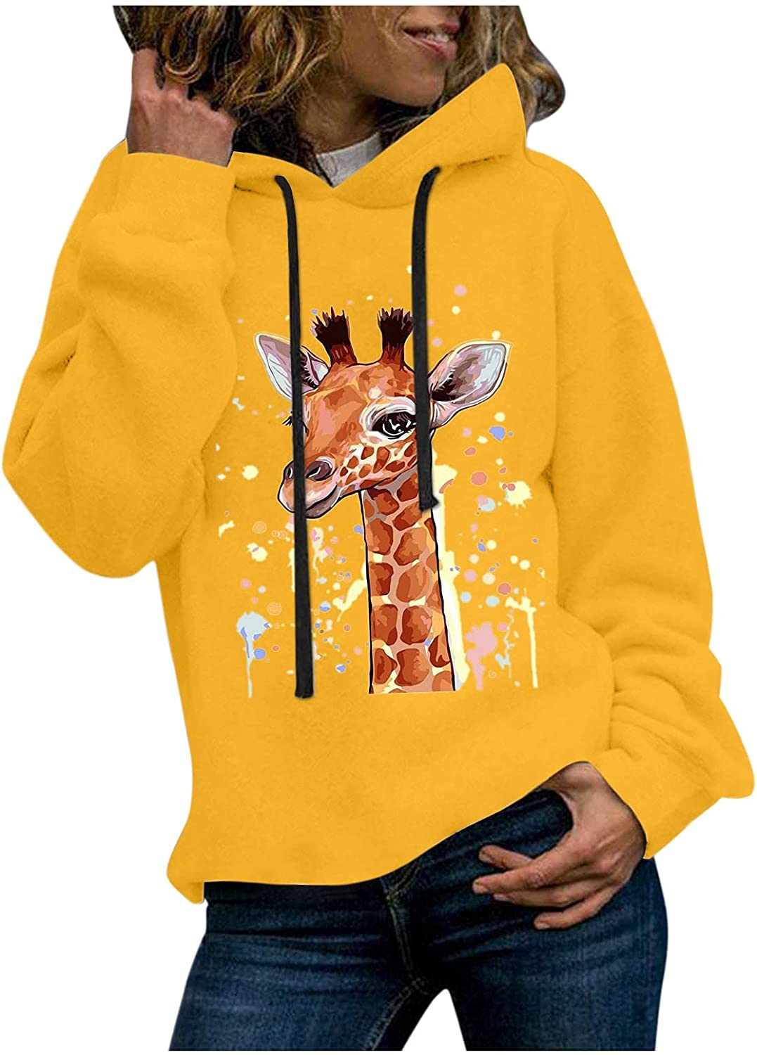 Hooded Pullover For Girls Popular products Casual 2021new shipping free shipping fashion Pri Giraffe Sleeve Fall