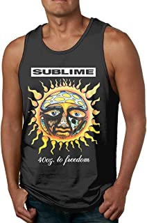 Sublime 40 Oz to Freedom Men's Sleeveless Garment Tank Top Shirt Black