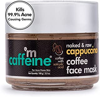 mCaffeine Cappuccino Coffee Face Pack Mask | Kills 99.9% Acne Causing Germs | Salicylic Acid, Kaolin Clay | For Acne Prone...