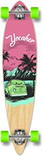 Yocaher New VW Vibe Beach Series Longboard Complete Cruiser and Decks Available for All Shapes (Complete-Pintail-Pink)