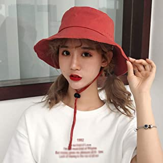Fisherman's Hat, Women's Fashion Sun Hat, Simple and Modern, Outdoor Activity Hat, Perfect Gift (Color : Red)