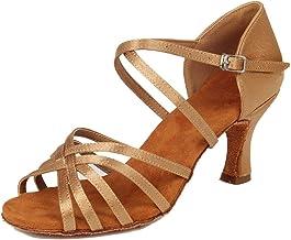 HIPPOSEUS Women's Latin Dance Shoes Ballroom Classical Party Practice Performance Sandals