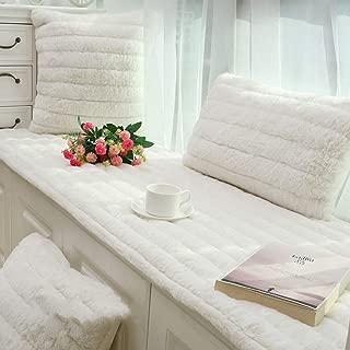 HUIYUE Thickening Plus Soft Plush Bay Window Cushion,Non-Slip Bay Window Bench Cushion,Window Cushion Balcony mat Matt mat-D 90x180cm(35x71inch)