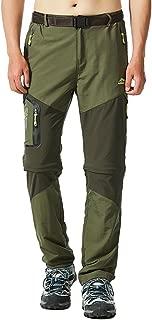 MAGCOMSEN Men's Outdoor Convertible Pants Zip Off Quick Dry Lightweight Hiking Mountain Fishing Pants Multi Pockets