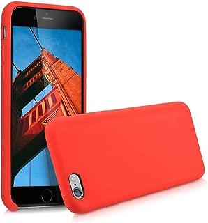 kwmobile Funda para Apple iPhone 6 / 6S - Carcasa de TPU para teléfono móvil - Cover Trasero en Rojo