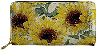 UNICEU Sunflowers Pattern Women Fashion Lightweight Long Wallet PU Leather Clutch Bags
