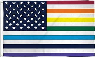 AZ FLAG USA Rainbow Old Glory Flag 3' x 5' - Gay LGBT American Flags 90 x 150 cm - Banner 3x5 ft