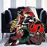Yaxinduobao Mantas, HeroAca Bnha Anime Season 2 Poster Throw Blankets, Manta móvil para niñas Ropa de Cama de Oficina