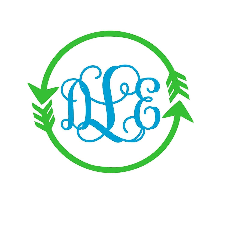 Custom Arrow Monogram gift Initials Decal Yeti Max 44% OFF for Car Sticker Cup