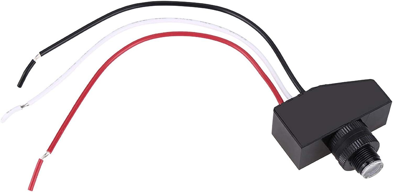 Biitfuu Interruptor de fotocélula, Mini Sensor de conmutación de luz Interruptor de fotocélula de 12 voltios Sensor de conmutación remota Interruptor de fotocélula de CC para Luces de jardín para