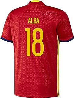 Adidas JORDI ALBA #18 Spain Home Jersey UEFA EURO 2016 -YOUTH/サッカーユニフォーム スペイン ホーム用 ジョルディ...