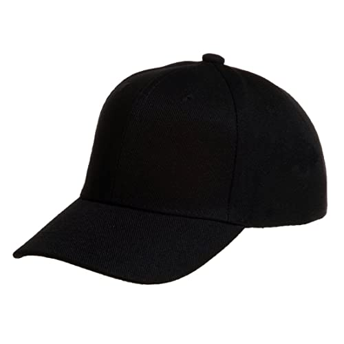 58bddb9fc2b3a Quality Merchandise Plain Baseball Blank Cap Solid Color Velcro Adjustable