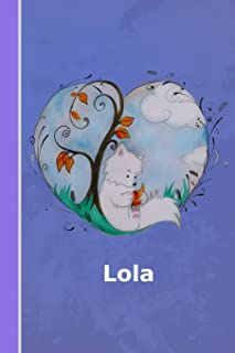 Lola: personalized notebook | illustration fox with heart | softcover | 120 pages | blank | notebook | diary | scrapbook | journal | gift idea