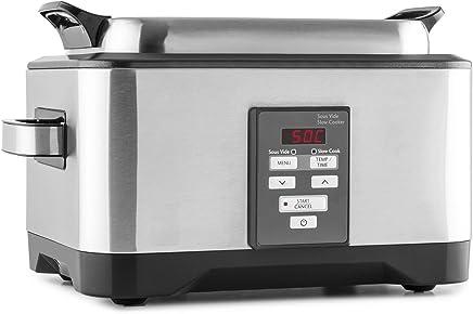 Klarstein Deepdive • cocción Sous-Vide • olla de cocción lenta • horno de cocción al vacío • 550 W • 8 l • 40 °C-99 °C • tiempo de cocción de hasta 24 h • circulación • acero inoxidable • plateado