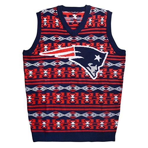 FOCO NFL Aztec Ugly Sweater Vest, Unisex-Erwachsene, Teamfarbe, XX-Large