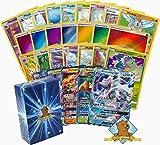 150 Random Pokemon Card Lot! 100 Pokemon Cards – GX & Foils – 50 Energy Cards – Pokemon Coin! Includes Golden Groundhog Deck Box!