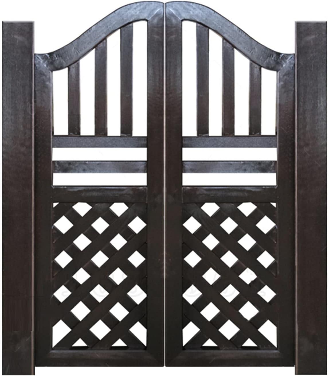 QIANDA Puertas Batientes De Bisagra Cafe,Exterior Media Cintura Puerta De La Cerca Bisagras Incluidas por Jardín Entrada Dividir,Madera Maciza,Tamaño Personalizado