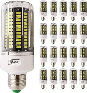ALBN Juego de 20 Bombillas led (E27, 12 W, equivale a una Bombilla halógena de 120 W, 6000 K, luz Blanca fría)